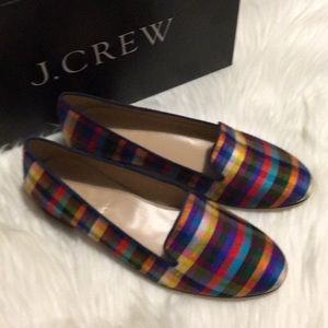 J. Crew - Cleo Fabric Loafers - Turquoise Orange